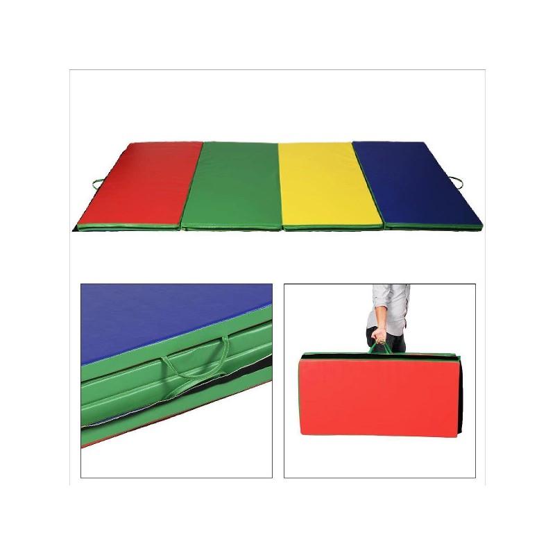 Mat Tapis Matelas Fitness Natte Multicolore Yoga Gym Gymnastique Pliable Pliant 6yvbfgY7